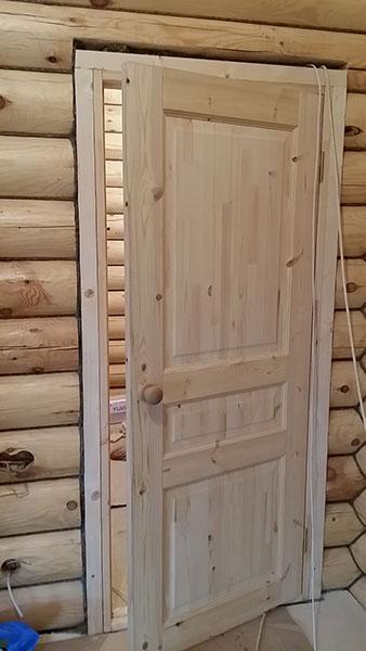 межкомнатные двери в деревянном доме фото порог сдаче квартира была